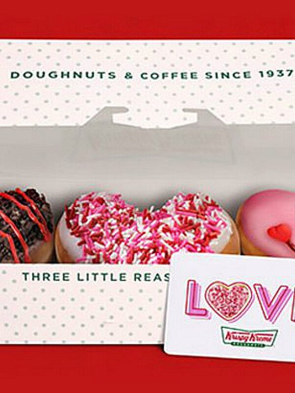 FREE Krispy Kreme Valentine 3-Pack With $25 Gift Card Purchase – Today Only