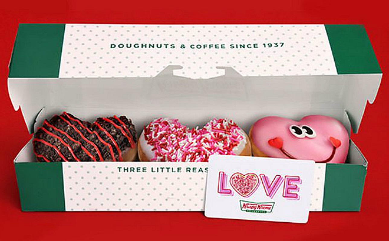 FREE Krispy Kreme Valentine 3-Pack With $25 Gift Card Purchase – Today Only *EXPIRED*
