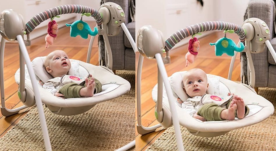 Portable Baby Swing by Ingenuity $39.00 + Free Shipping!