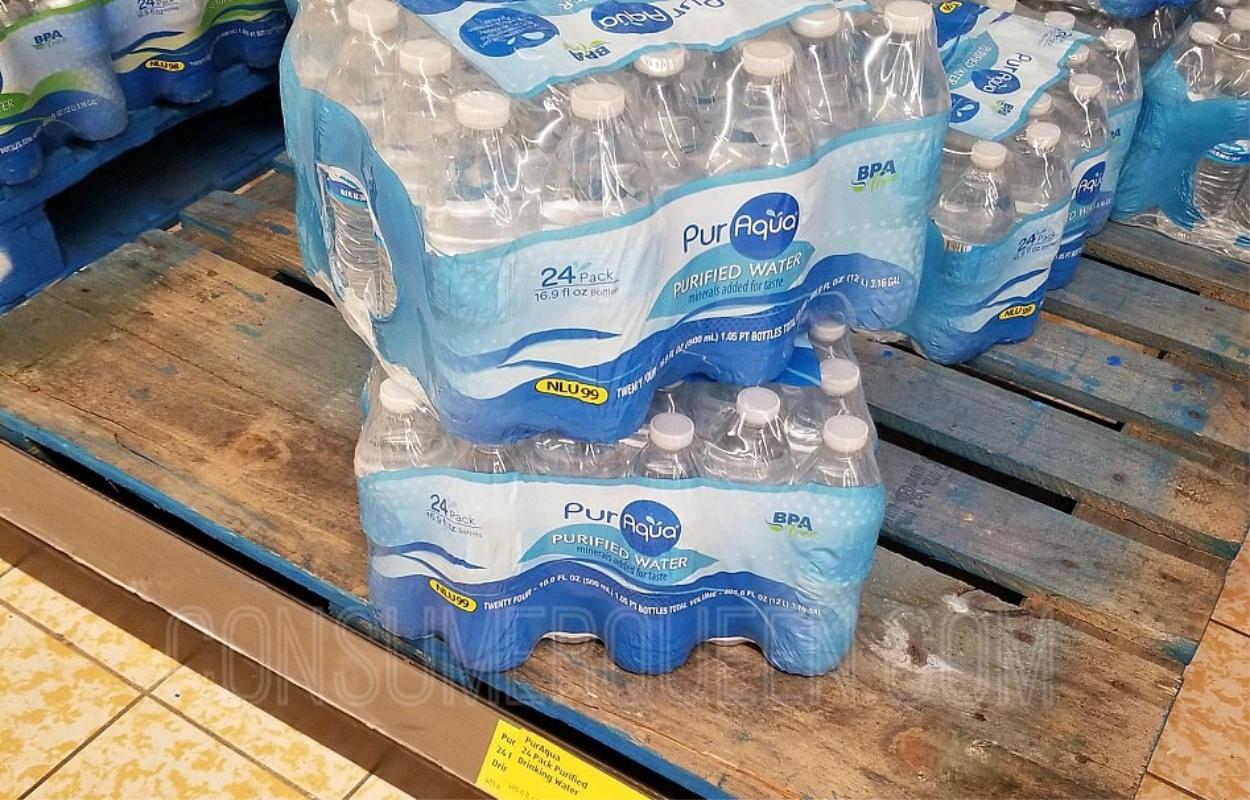 PurAqua Bottled Water 24-pk $2.29 at Aldi – That's Just 9¢ per Bottle!