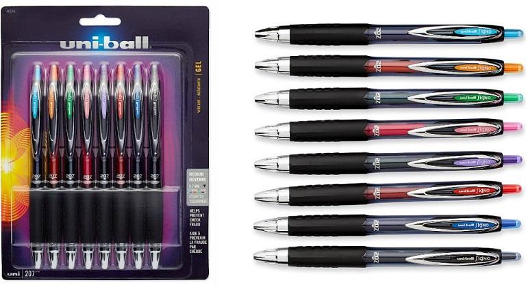 uni-ball retractable gel pens