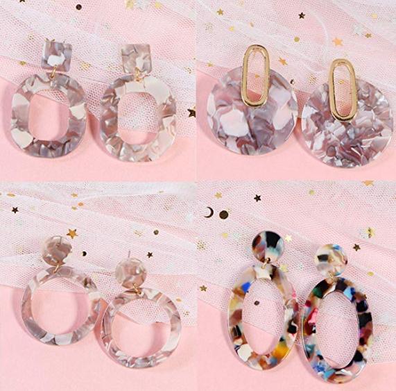 Women's Resin Earrings by Thunaraz – 4 Pack $12.99 on Amazon!