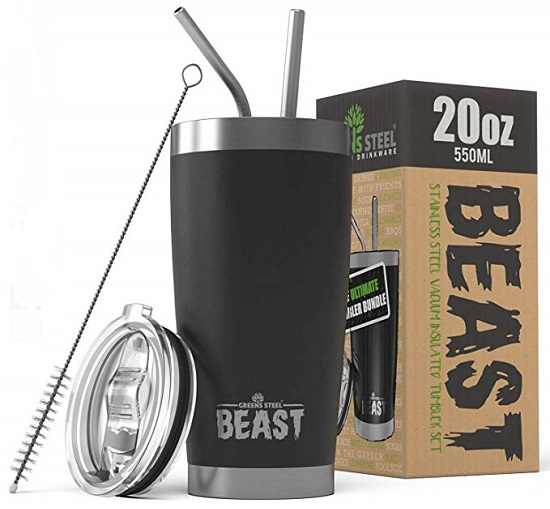 20 Ounce Insulated Tumbler Set by BEAST $21.99 on Amazon!