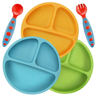 3 Pack Silicone Plates for Baby and Toddler $12.95 on Amazon!