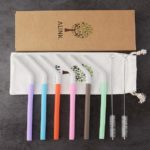 6 pack reusable silicone straws