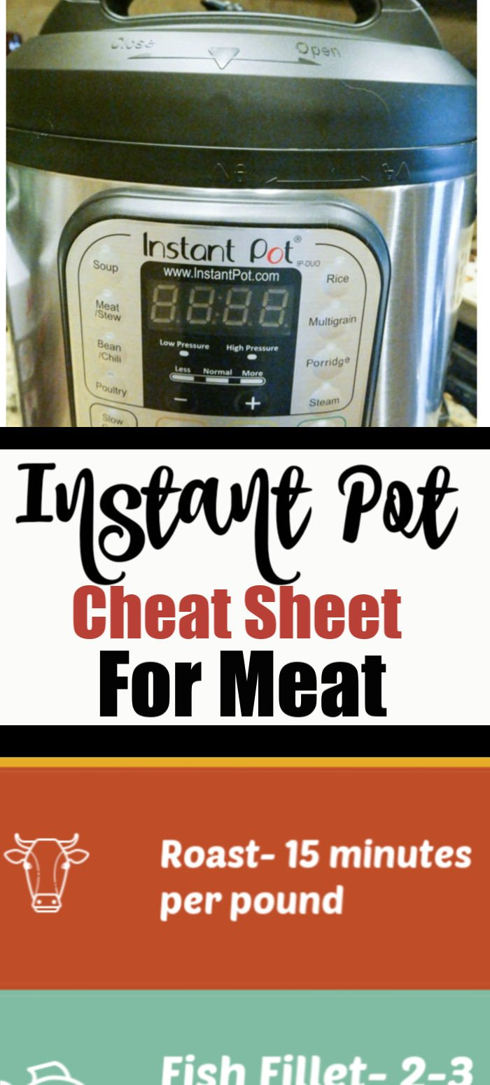 Instant Pot Cheat Sheet for Meat