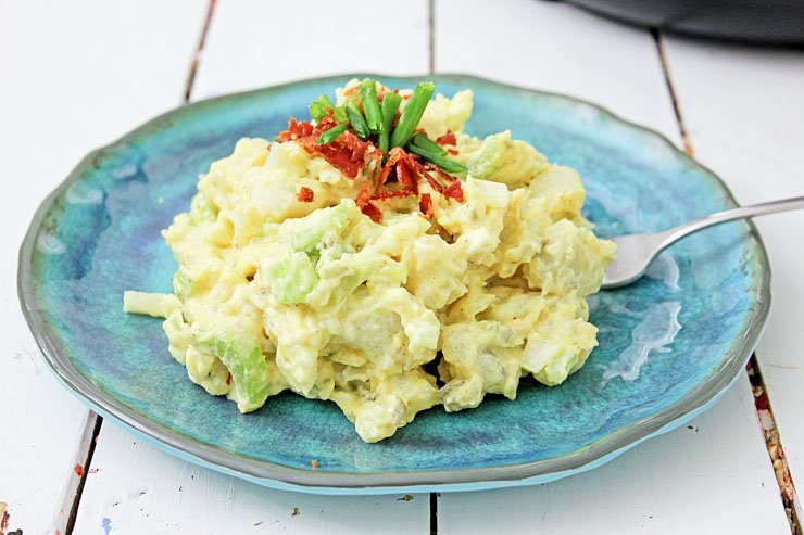 Instant Pot Potato Salad Plated