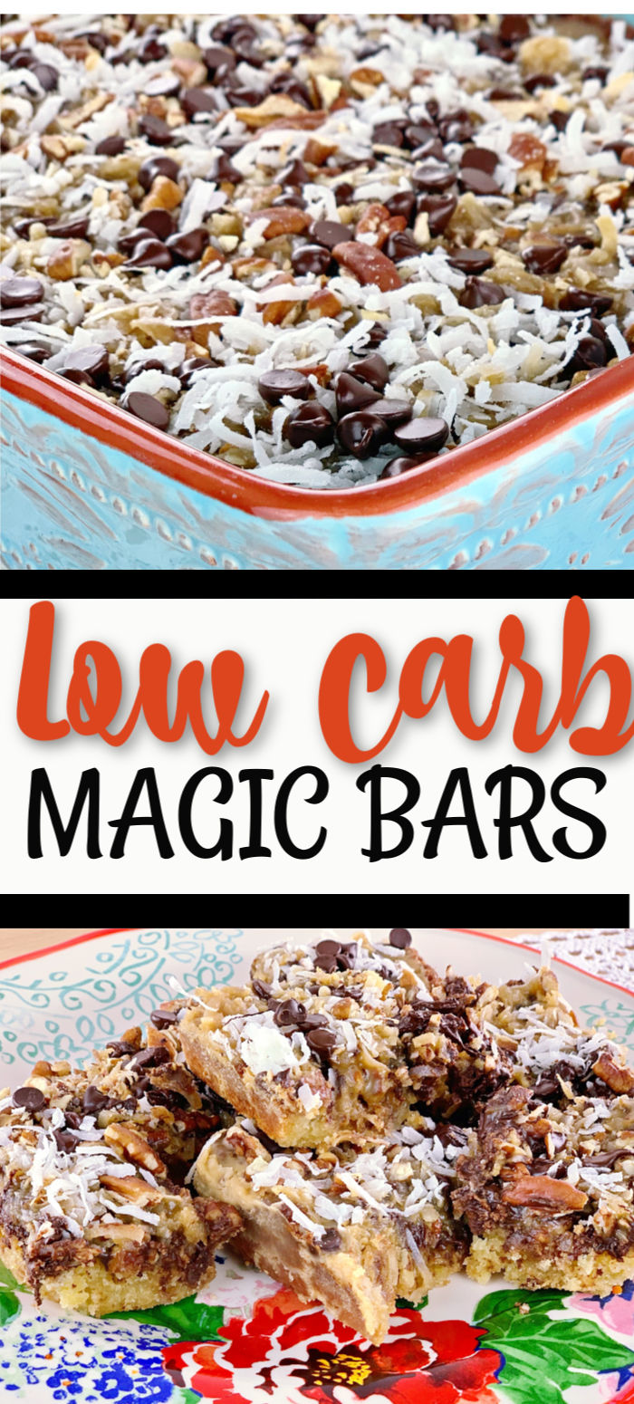 LOW CARB MAGIC BARS PINTEREST 2