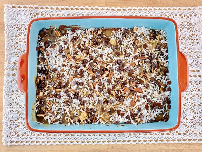 LOW CARB MAGIC BARS TOPPING