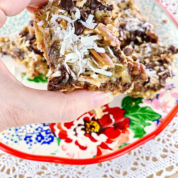 LOW CARB MAGIC BARS UP CLOSE