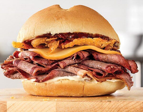 free signature sandwich at arby's