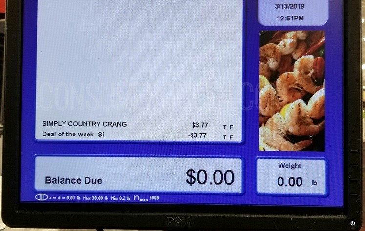 cash register screen shot