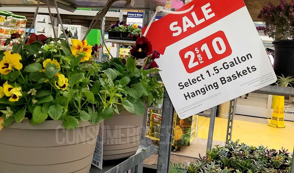 Hanging Flower Baskets $5, Preen Mulch $2.50 + More at Lowe's