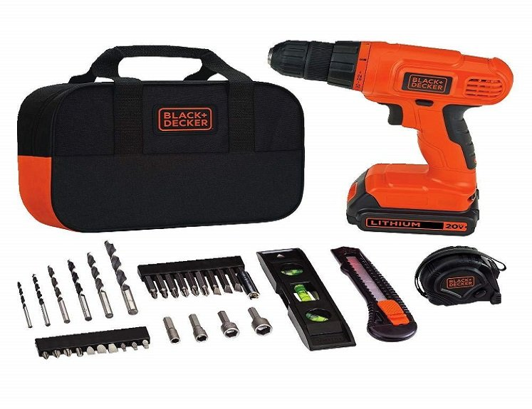 Home Tool Kit with Drill by Black & Decker $52.40 + Free Shipping!