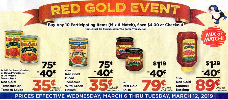red gold sale event