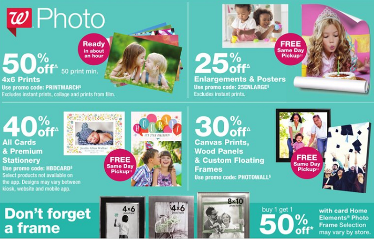 Walgreens Photo Deals: 50% off Everything Photo & More