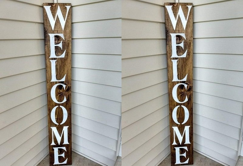 Farmhouse Welcome Sign by PotteLove $20.99 + Free Shipping!