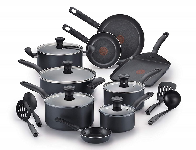 18 Piece Cookware Set by T-fal Only $59.47 + Free Shipping!