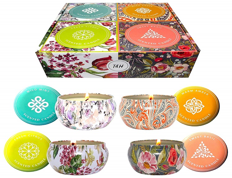 4 Pack Aromatherapy Candles by T & H Just $25.88 + Free Shipping!