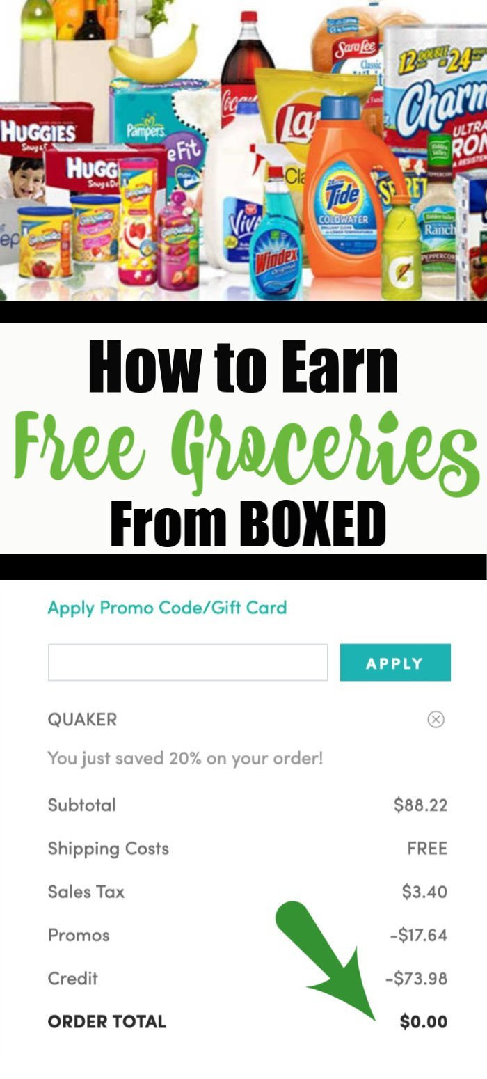Free Groceries with BOXED - Click Here to Find Out How to