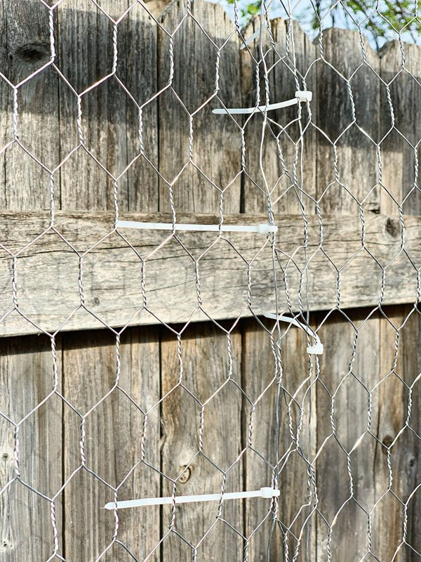 Garden Trellis Fold Chicken Wire Zip Tie