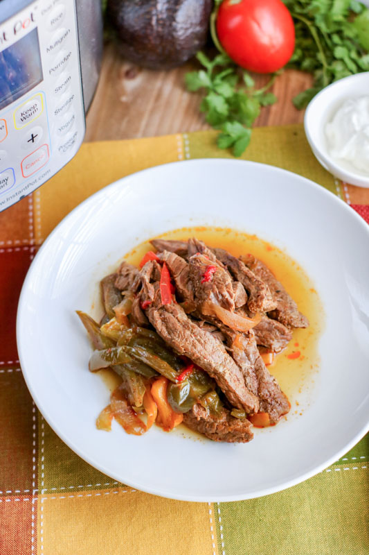 Instant Pot Steak Fajitas Vertical