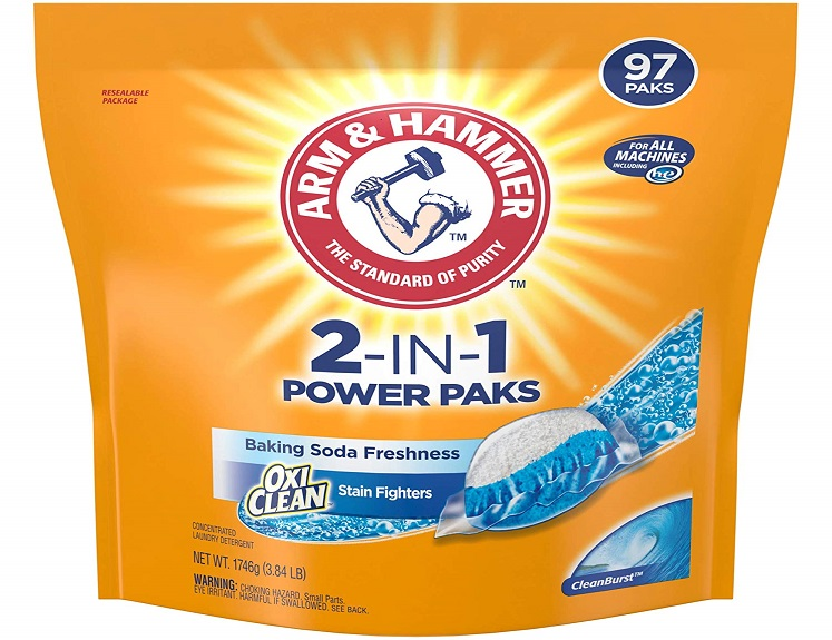 Arm & Hammer Power Paks Detergent – 97 Count $11.85 on Amazon!