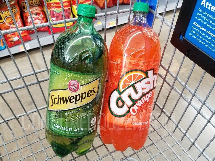 crush & Schweppes 2 liter soda