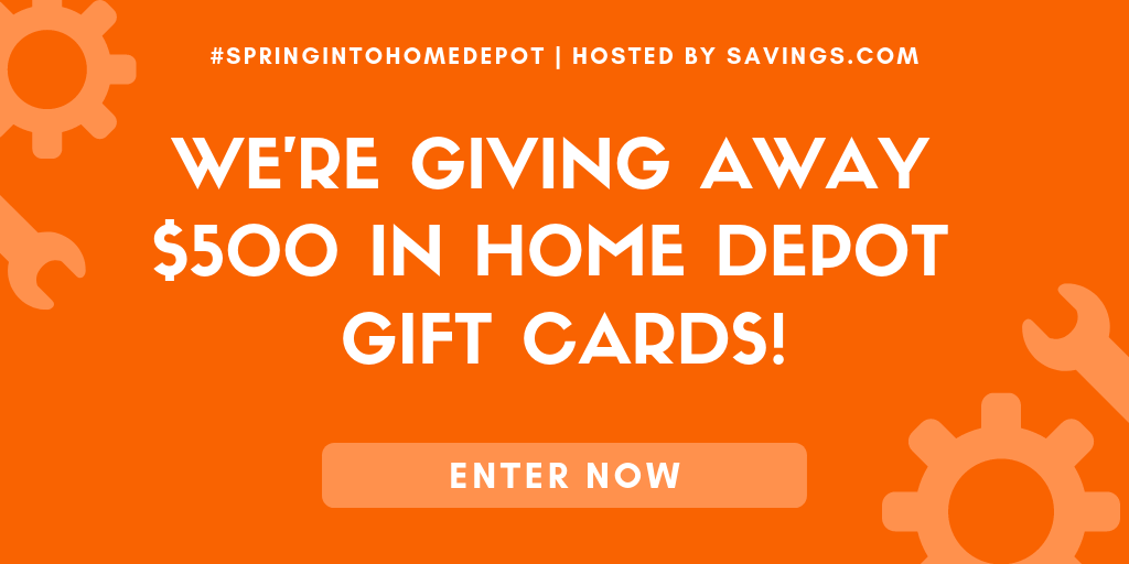 Home Depot Giveaway – Win One of TEN $50 Gift Cards #SpringIntoHomeDepot