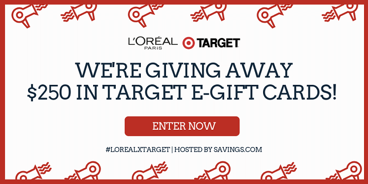 Target Gift Card Giveaway- Win One of Five $50 Cards #LOrealxTarget