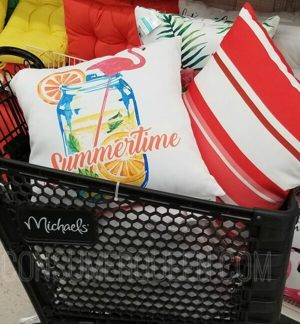 outdoor living pillows at michael's
