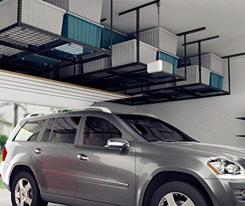 Overhead Garage Storage Rack In Two Color Options $125.99 + Free Shipping!