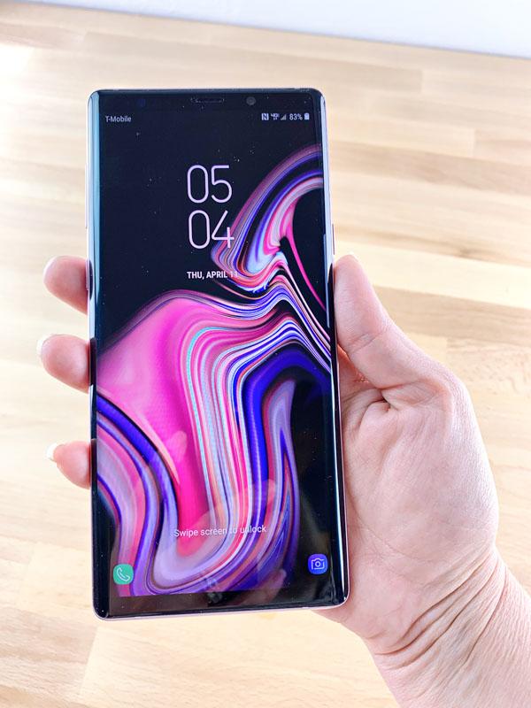 trademore purple phone turned on