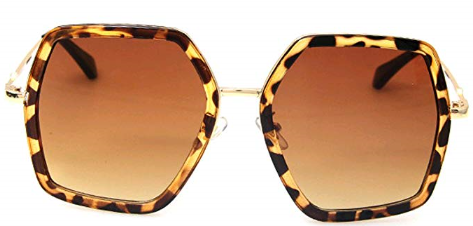 Women's Oversized Square Sunglasses by GAMT $12.99 on Amazon!