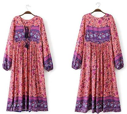 womens trendy boho dress