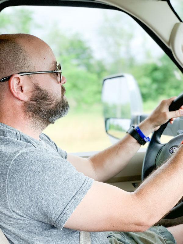 Daniel Driving RV