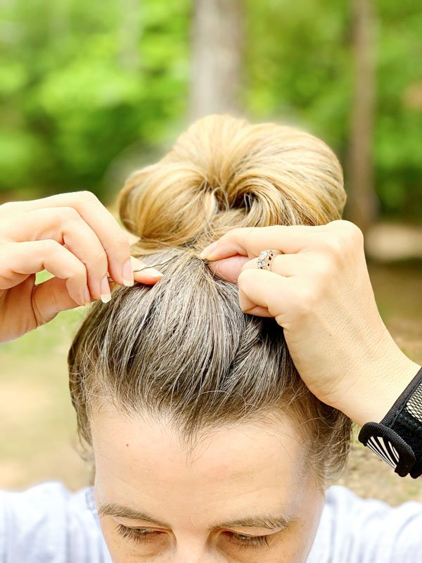 Pull Bun In front and Clip