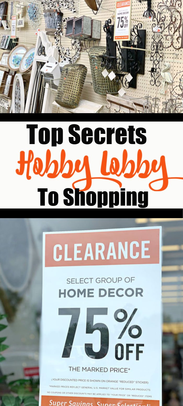 Top Secrets For Shopping At Hobby Lobby