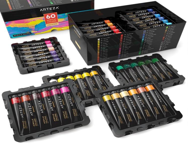 Acrylic Paint Set by ARTEZA – 60 Colors $29.74 + Free Shipping!
