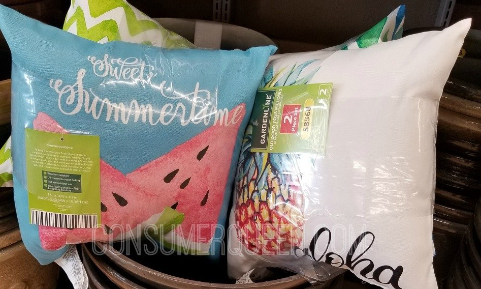 Outdoor 2 Pack Toss Pillows Only $10 at Aldi