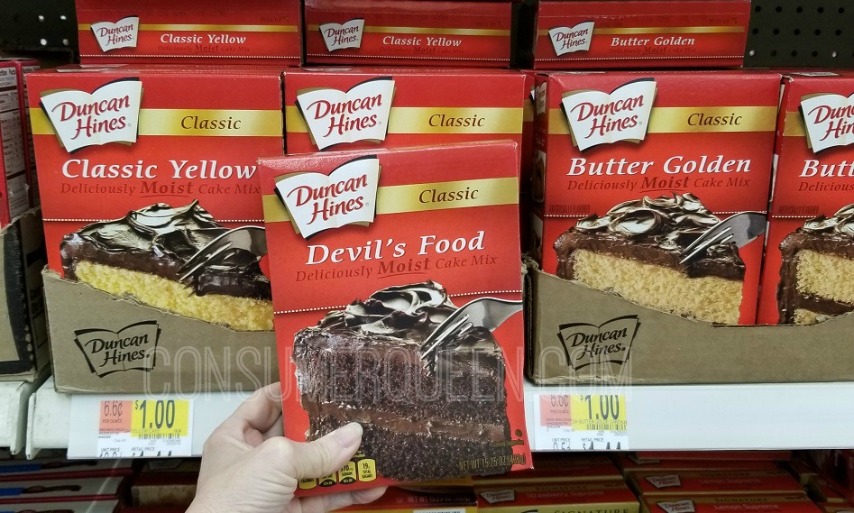graphic relating to Duncan Hines Coupons Printable identify Duncan Hines Cake Incorporate as Very low as 85¢ at Walmart Soon after Money Back again!