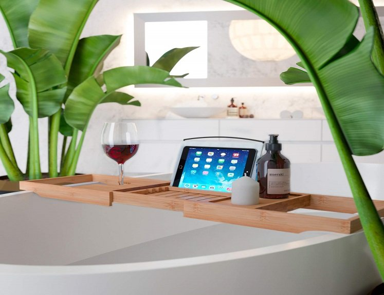 Expandable Bathtub Tray Caddy $19.95 on Amazon!