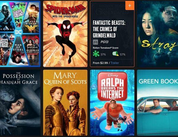 fandango movie rental free