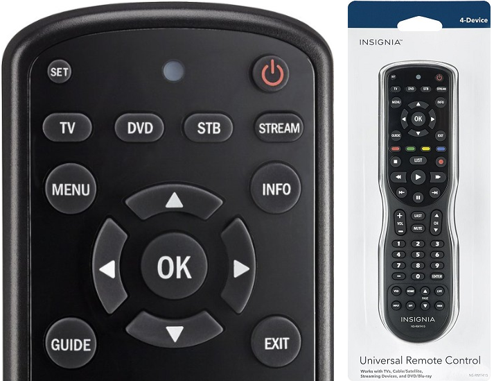 Insignia 4 Device Universal Remote $9.99 (Reg. $30) at Best Buy