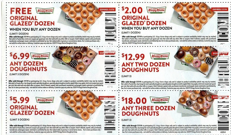 graphic regarding Krispy Kreme Printable Coupons named Krispy Kreme Dozen Doughnuts $5.99 Currently Simply (Advantages Participants)