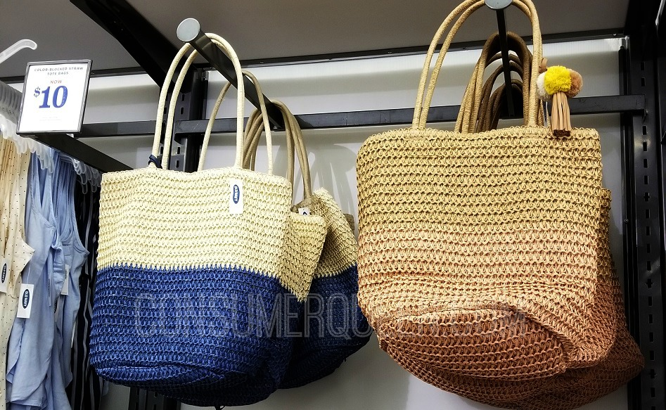 Old Navy Straw Totes Just $10 + More
