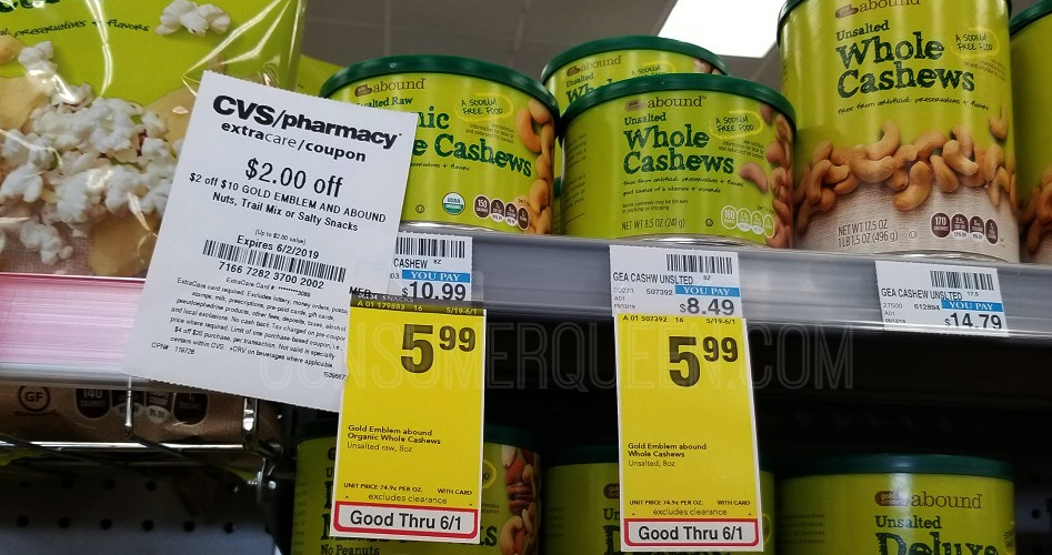 abound organic cashews at cvs