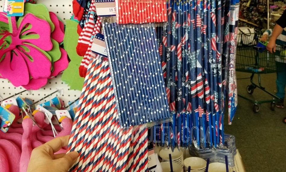 patriotic finds straws at dollar tree