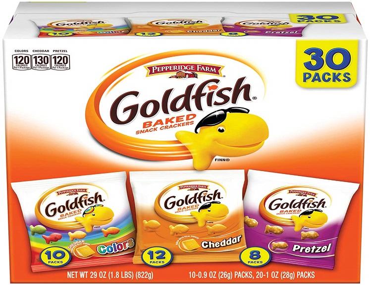 Pepperidge Farms Goldfish Crackers Variety Pack – 30 Ct. $9.48 on Amazon!