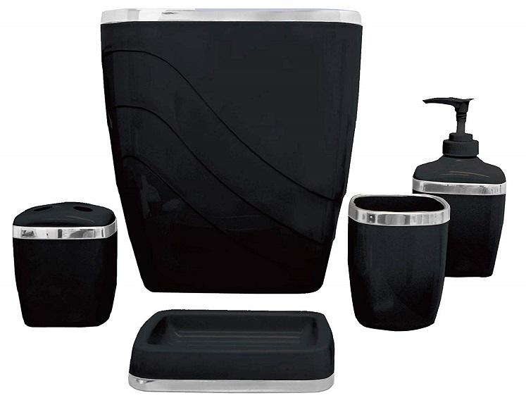 5-piece bath accessories set